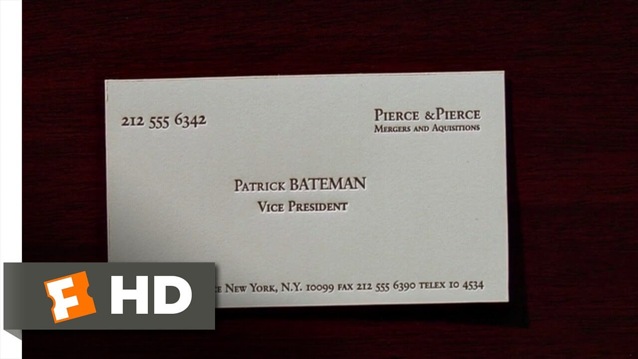 American Psycho (2/12) Movie Clip - Business Cards (2000) Hd regarding Paul Allen Business Card Template
