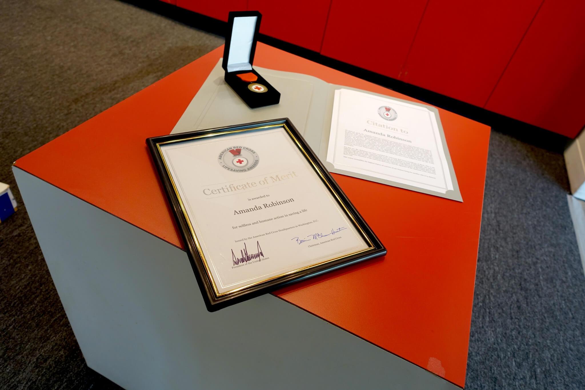 American Red Cross Lifesaving Awards Program | Red Cross for Life Saving Award Certificate Template