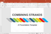 Animated Combining Strands Powerpoint Template for Replace Powerpoint Template
