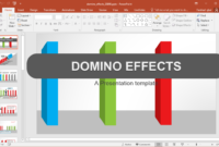 Animated Domino Effects Powerpoint Template – Fppt throughout Powerpoint Replace Template