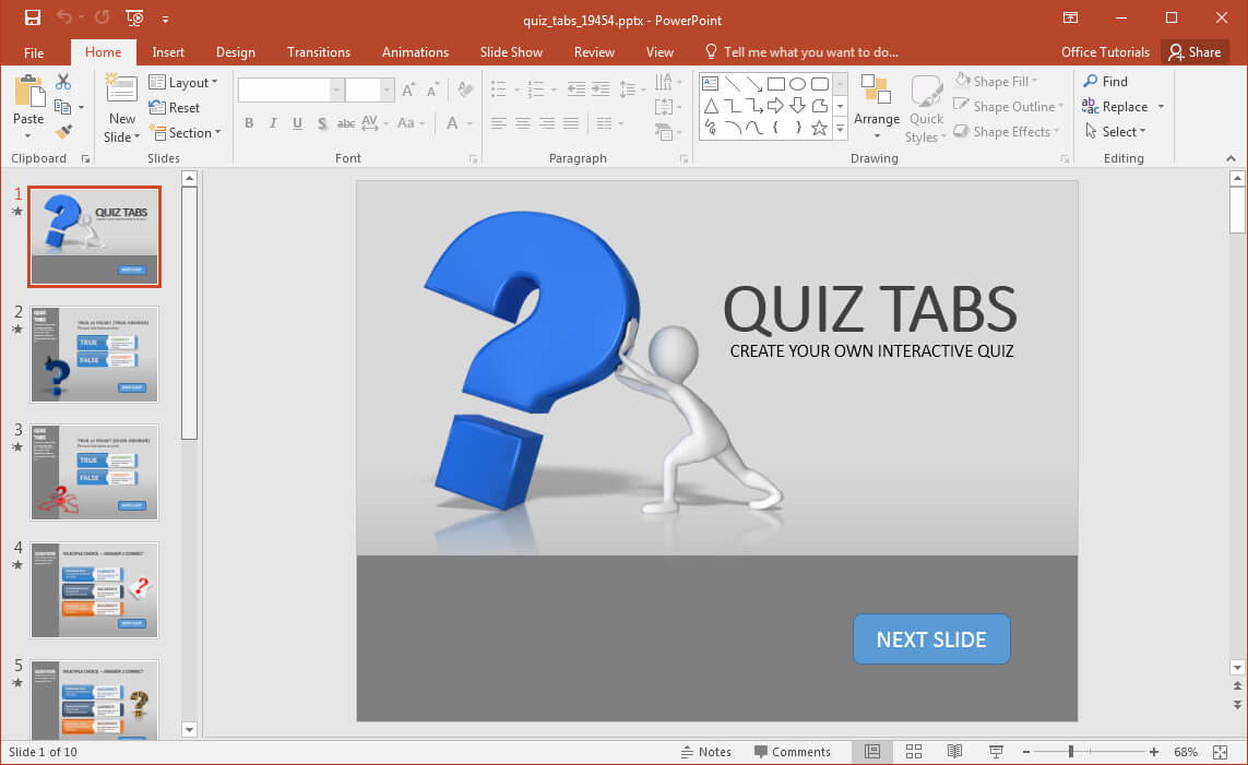 Animated Powerpoint Quiz Template For Conducting Quizzes In Powerpoint Quiz Template Free Download