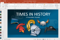 Animated Times In History Powerpoint Template for Powerpoint Replace Template