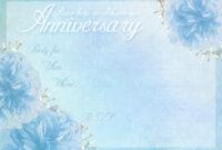 Anniversary Card Templates 12 Free – Anniversary Card with Template For Anniversary Card