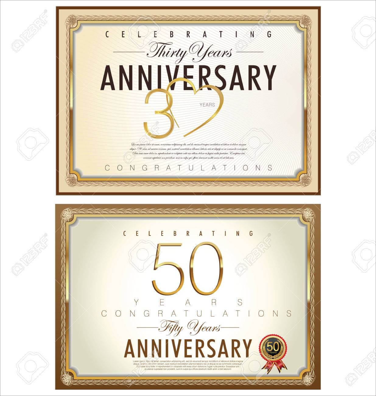Anniversary Certificate Template Intended For Anniversary within Anniversary Certificate Template Free