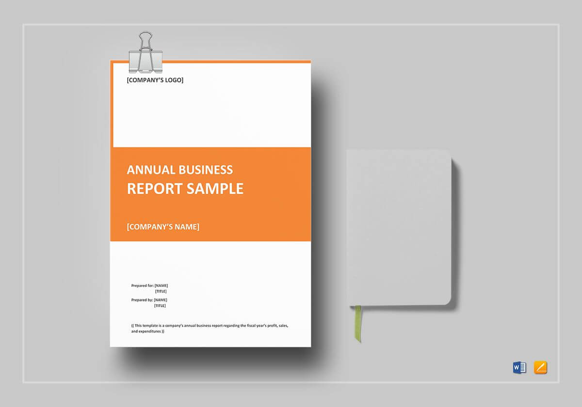 Annual Business Report Template Intended For It Report Template For Word