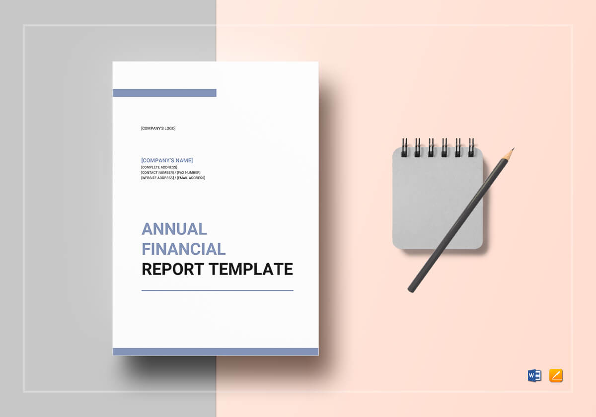 Annual Financial Report Template Intended For Annual Financial Report Template Word