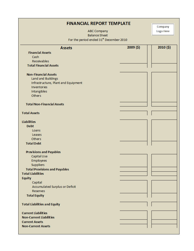 Annual Financial Report Template Word - Atlantaauctionco For Annual Financial Report Template Word