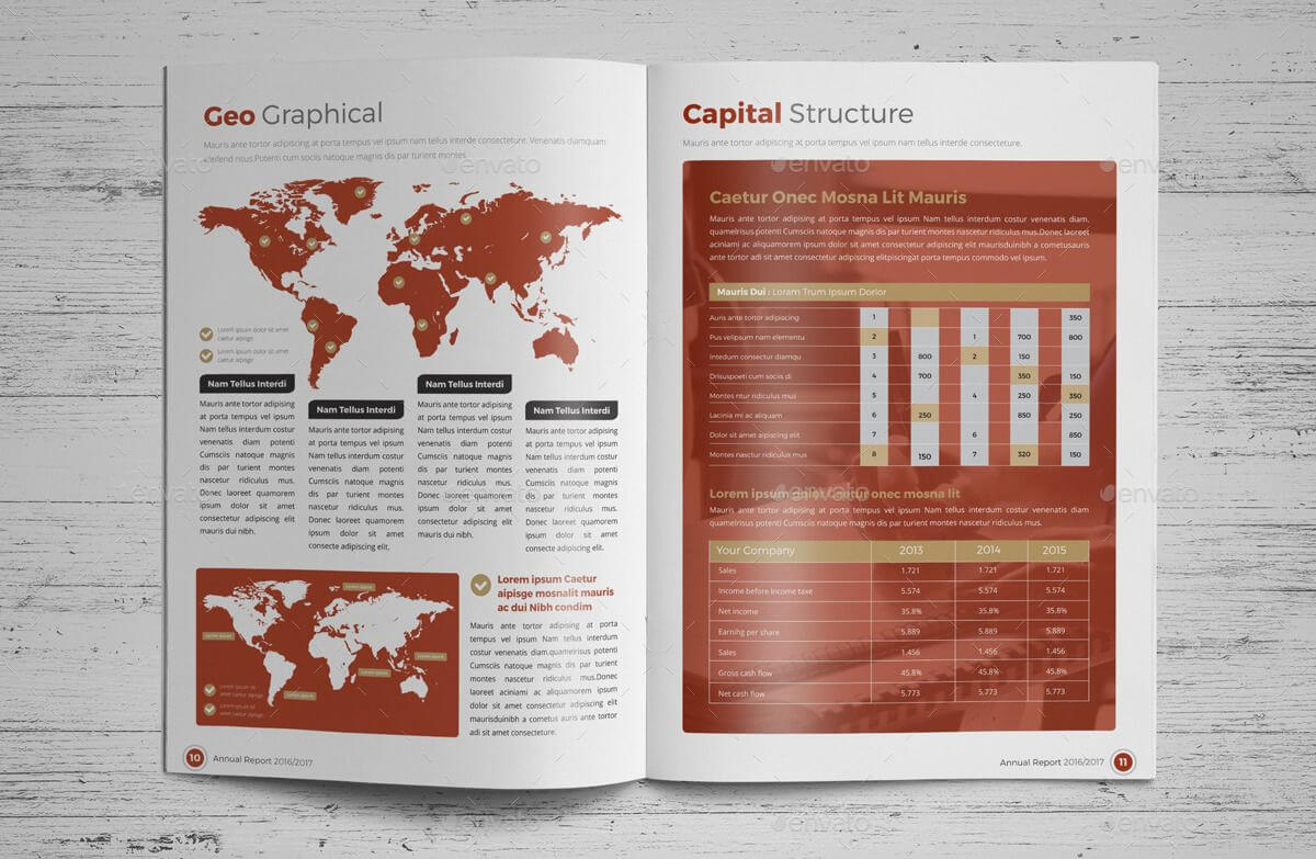 Annual Report Brochure Indesign Template 4 #report, #annual Within Brochure Templates Adobe Illustrator