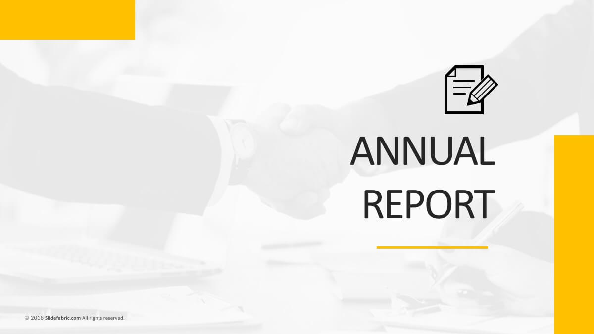Annual Report Free Powerpoint Template throughout Annual Report Ppt Template
