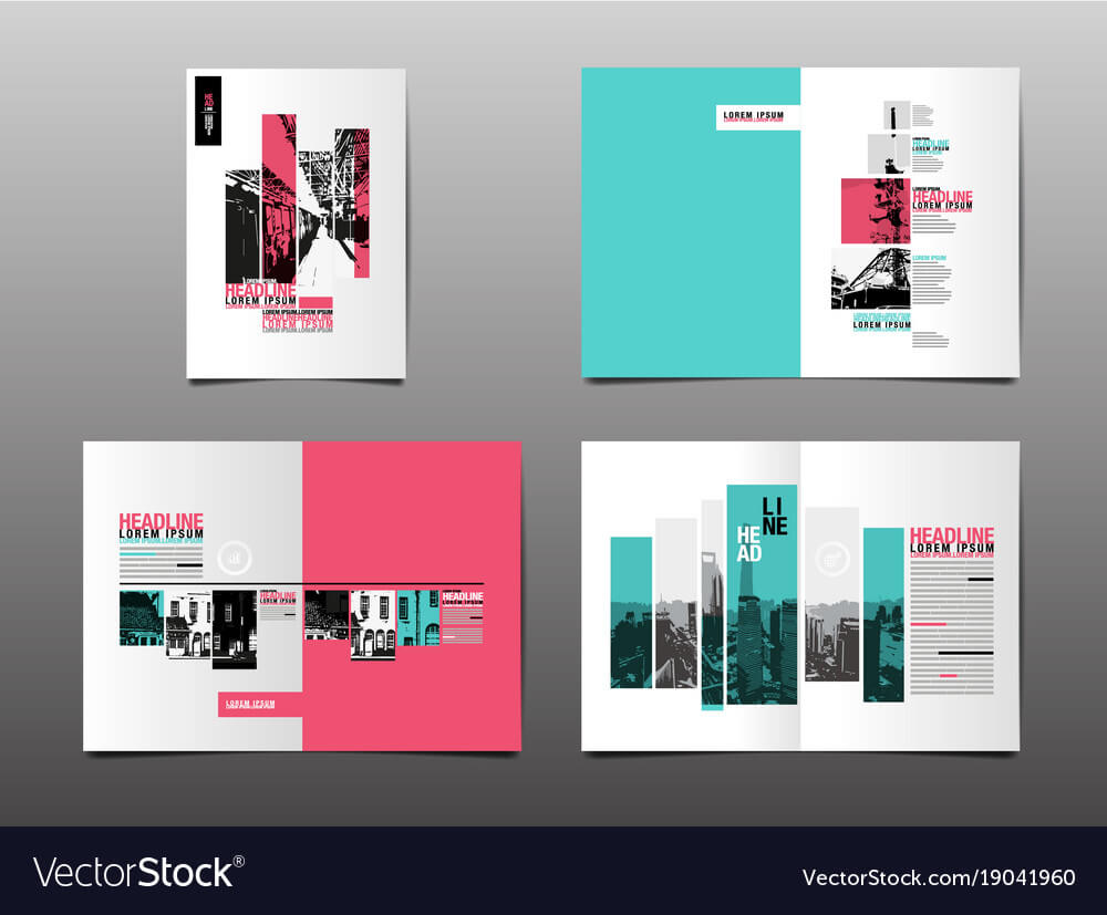 Annual Report Template Layout Design Cover Book With Regard To Illustrator Report Templates