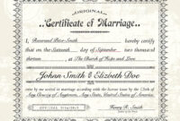 Antique Marriage Certificate Template | Vector Vintage intended for Certificate Of Marriage Template