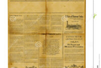 Antique Newspaper Template Stock Image. Image Of Information throughout Blank Old Newspaper Template