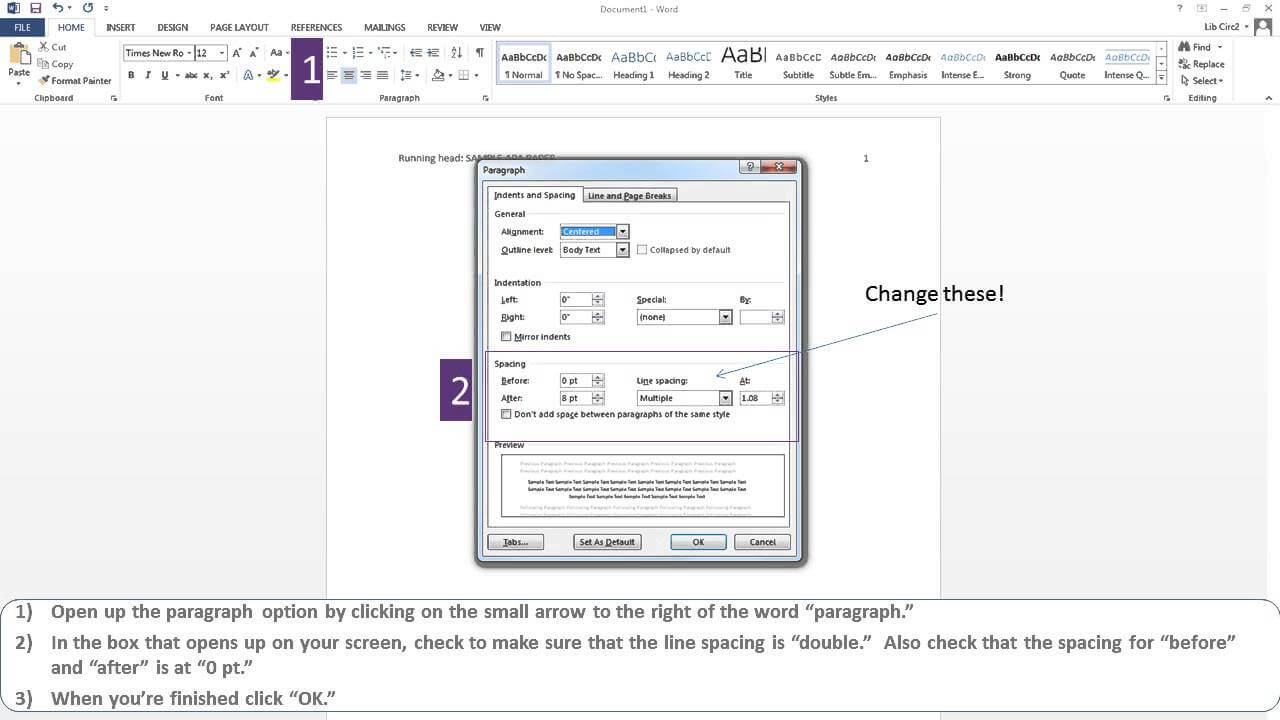 Apa Paper Microsoft Word 2013 With Regard To Apa Format Template Word 2013