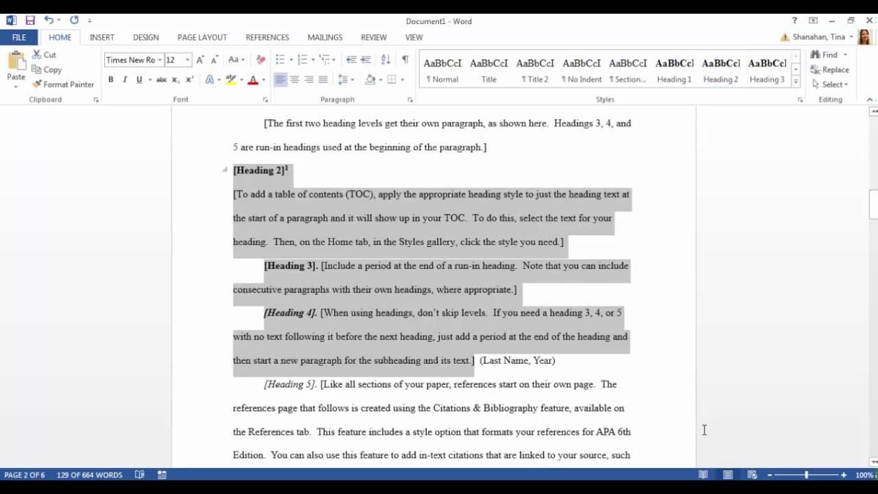 Apa Template In Microsoft Word 2016 Inside Apa Research Paper Template Word 2010