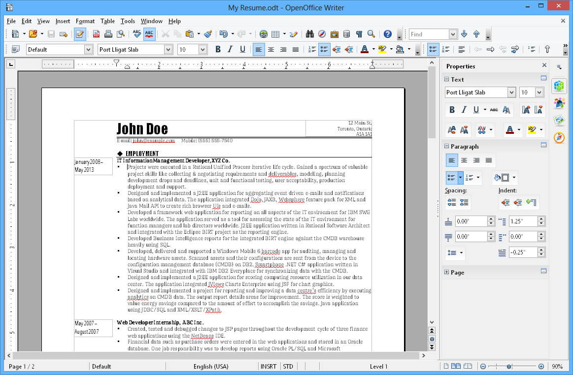 Apache Openoffice Writer within Open Office Index Card Template