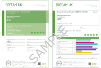 Appendix F – Examples Of Breeam Uk New Construction Certificates throughout Construction Payment Certificate Template