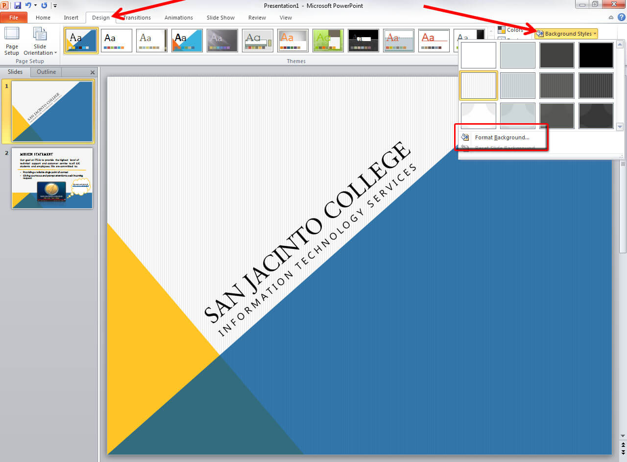 Applying And Modifying Themes In Powerpoint 2010 within How To Change Template In Powerpoint