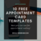 Appointment Card Template: 10 Free Resources For Small in Medical Appointment Card Template Free