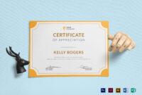 Appreciation Certificate Template For Indesign Certificate Template