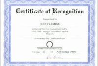 Appreciation Certificate Templates For Word for Template For Certificate Of Appreciation In Microsoft Word
