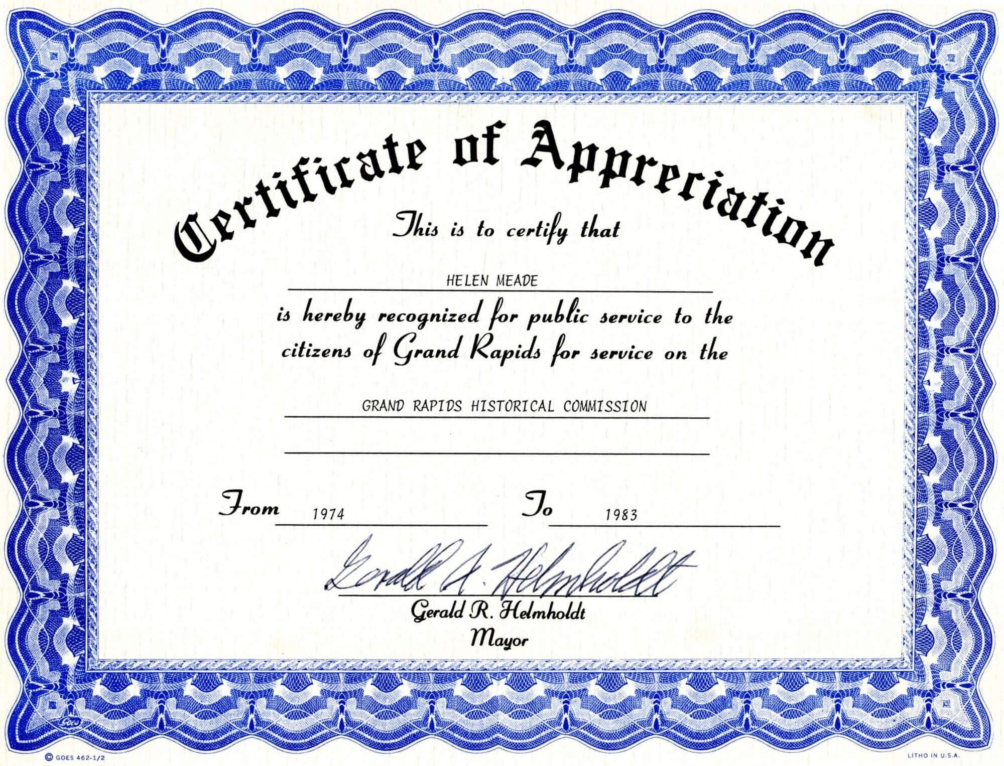 Appreciation Certificate Templates Free Download For Blank Certificate Templates Free Download