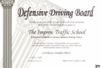 Arizona Defensive Driving Schoolimprov with regard to Safe Driving Certificate Template