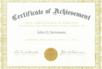 Army Certificate Of Achievement Template in Army Certificate Of Achievement Template