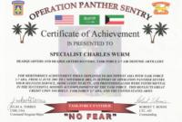 Army Certificate Of Appreciation Wording   Doyadoyasamos within Army Certificate Of Achievement Template