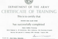 Army Certificate Of Training Template | Doyadoyasamos Within Army Certificate Of Completion Template