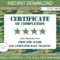 Army Party Printables, Invitations & Decorations – Camo Within Boot Camp Certificate Template