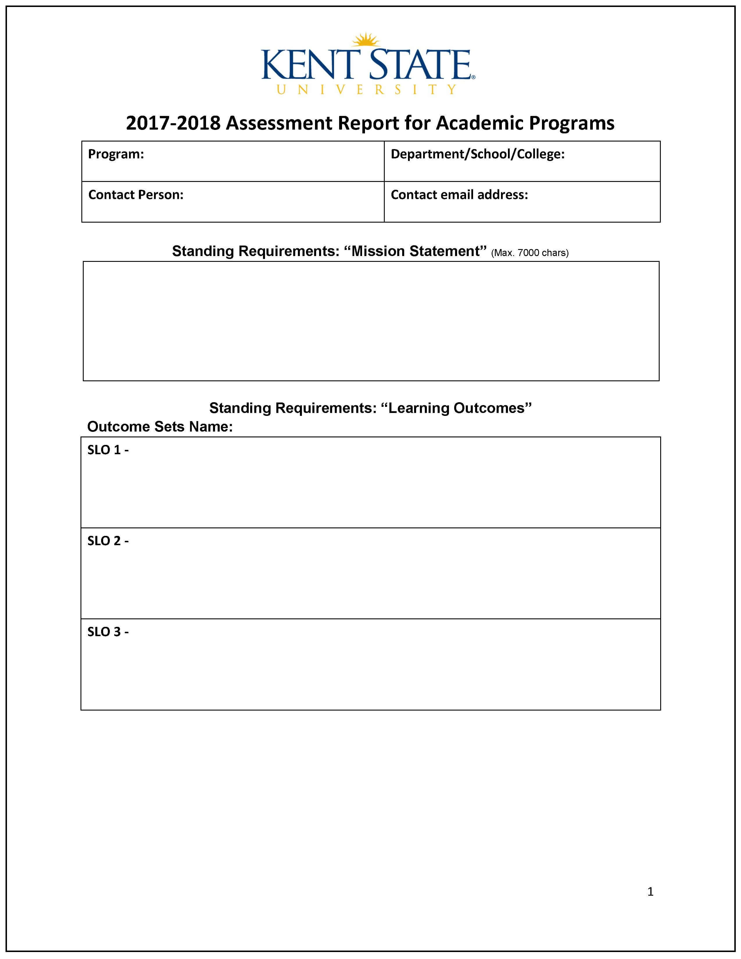 Assessment Report – Word Template | Accreditation Regarding It Report Template For Word