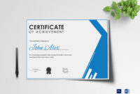 Athletic Achievement Certificate Template with regard to Athletic Certificate Template