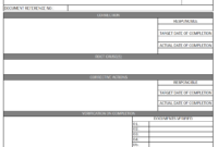 Audit Non Conformance Report – within Quality Non Conformance Report Template