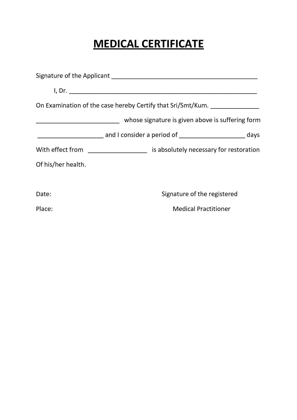 Australian Doctors Certificate Template – Atlantaauctionco Pertaining To Australian Doctors Certificate Template