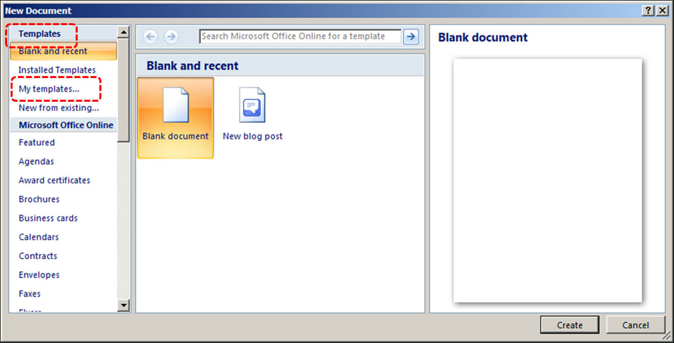 Authoring Techniques For Accessible Office Documents: Word regarding Word 2010 Template Location