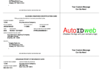 Auto Insurance Card Template – Fill Online, Printable For Auto Insurance Id Card Template