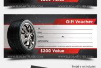Auto Shop – Premium Gift Certificate Psd Template pertaining to Automotive Gift Certificate Template