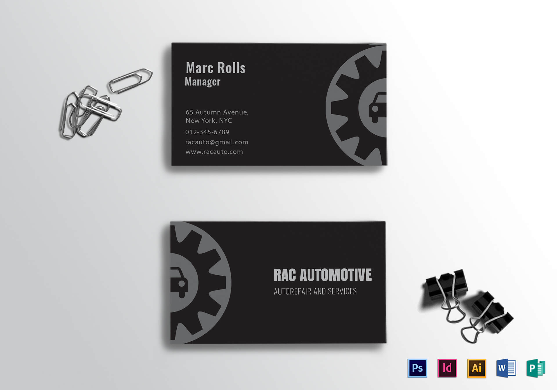Automotive Business Card Template Throughout Automotive Business Card Templates