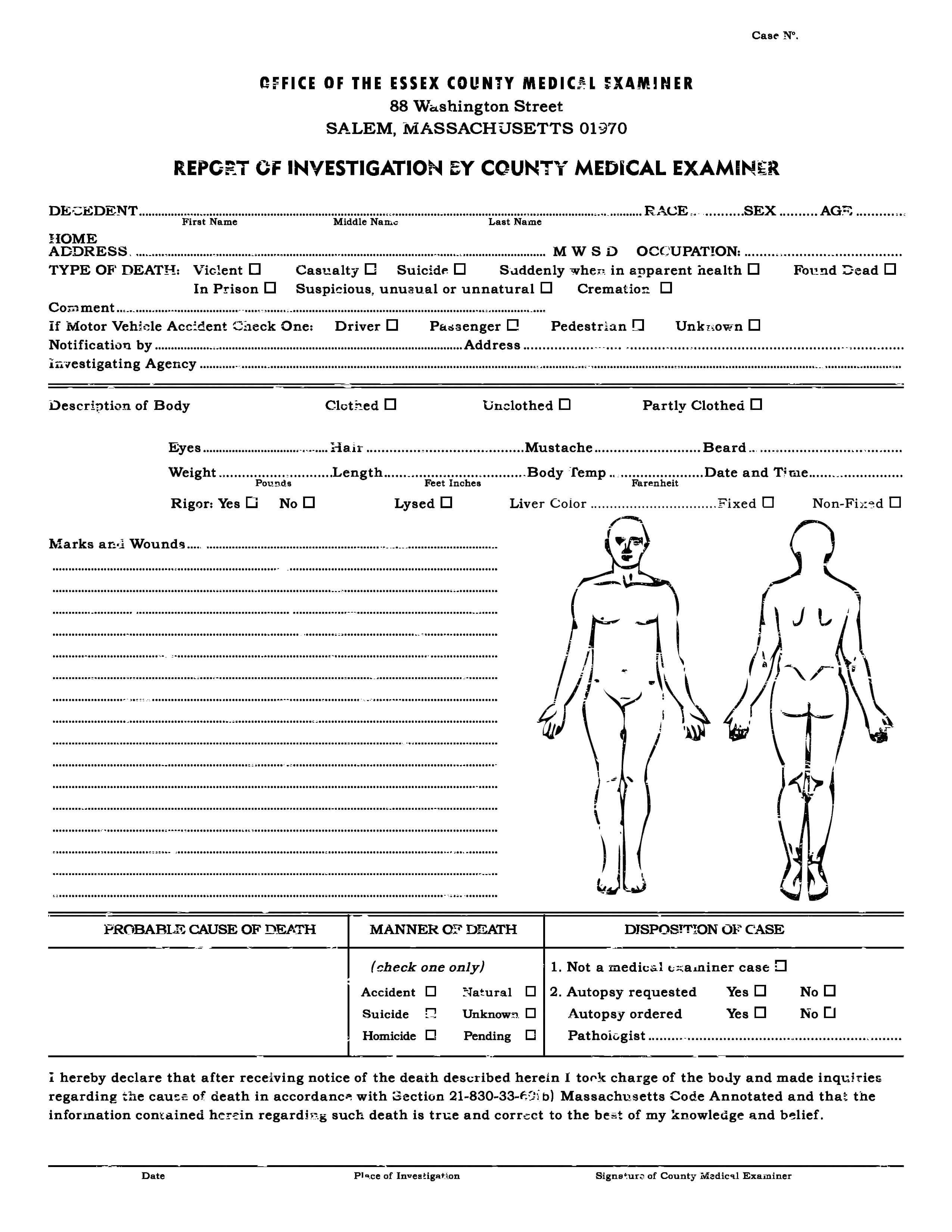 Autopsy Report Template - Atlantaauctionco Inside Blank Autopsy Report Template