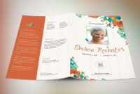 Autumn Floral Funeral Program Template in Memorial Brochure Template