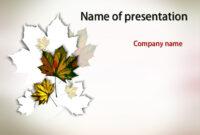 Autumn Leaves Powerpoint Template | Powerpoint Templates with Free Fall Powerpoint Templates