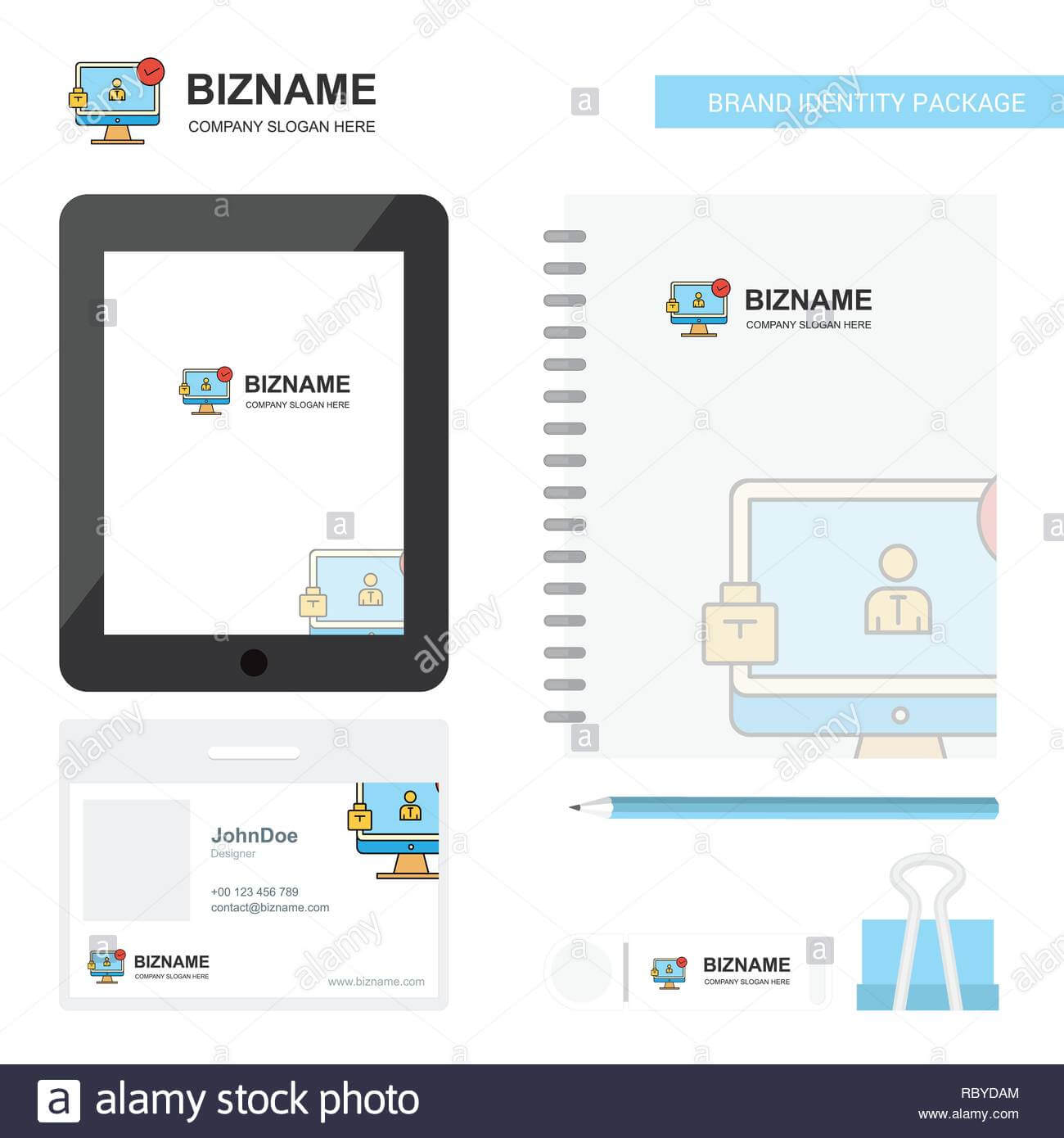 Avatar On Monitor Business Logo, Tab App, Diary Pvc Employee within Pvc Card Template