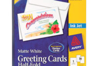 "Avery® Greeting Card – 8 1/2"" X 5 1/2"" – Matte – 30 / Box – White with regard to Quarter Fold Greeting Card Template"