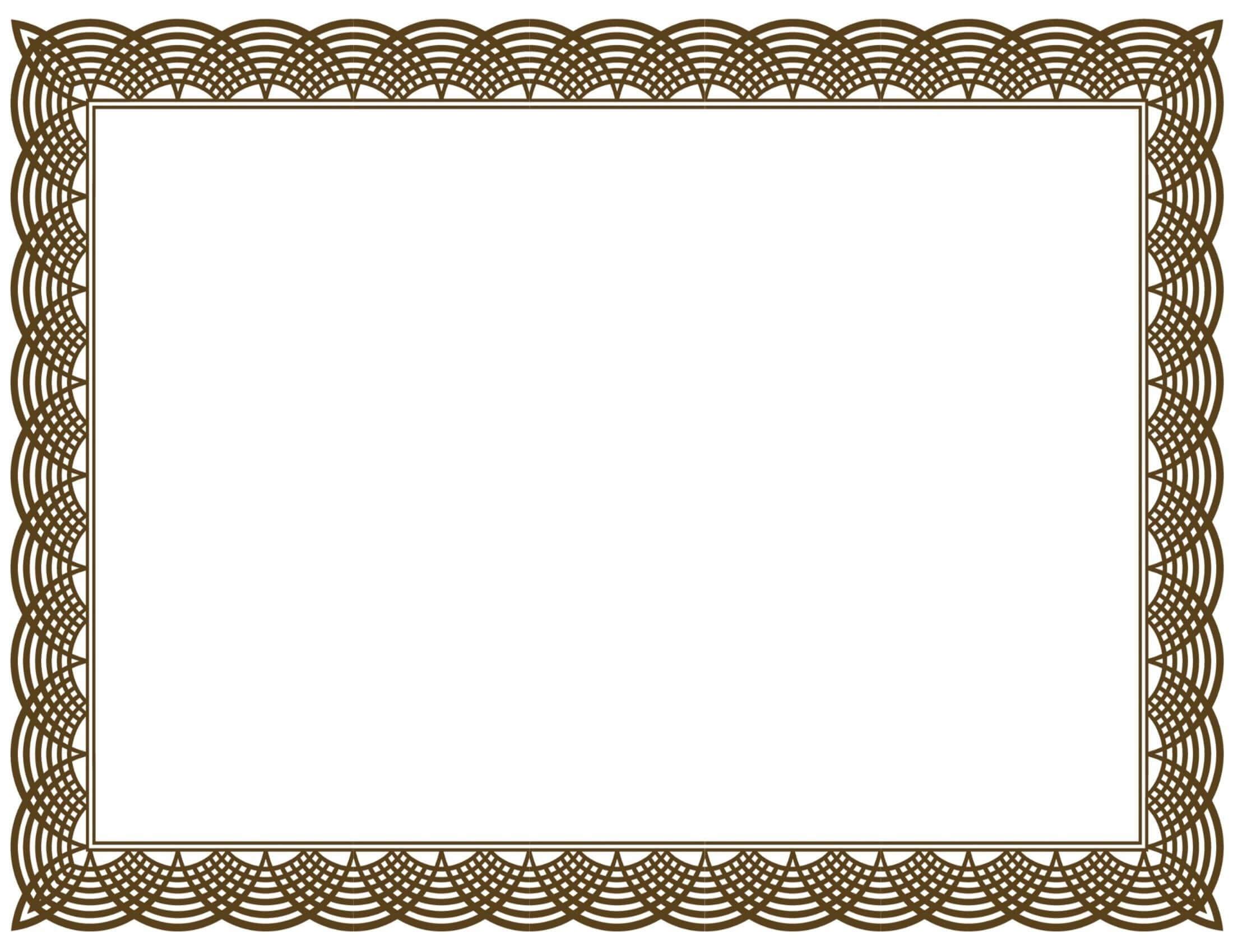 Award Certificate Border Pdf Template In Certificate Border In Award Certificate Border Template