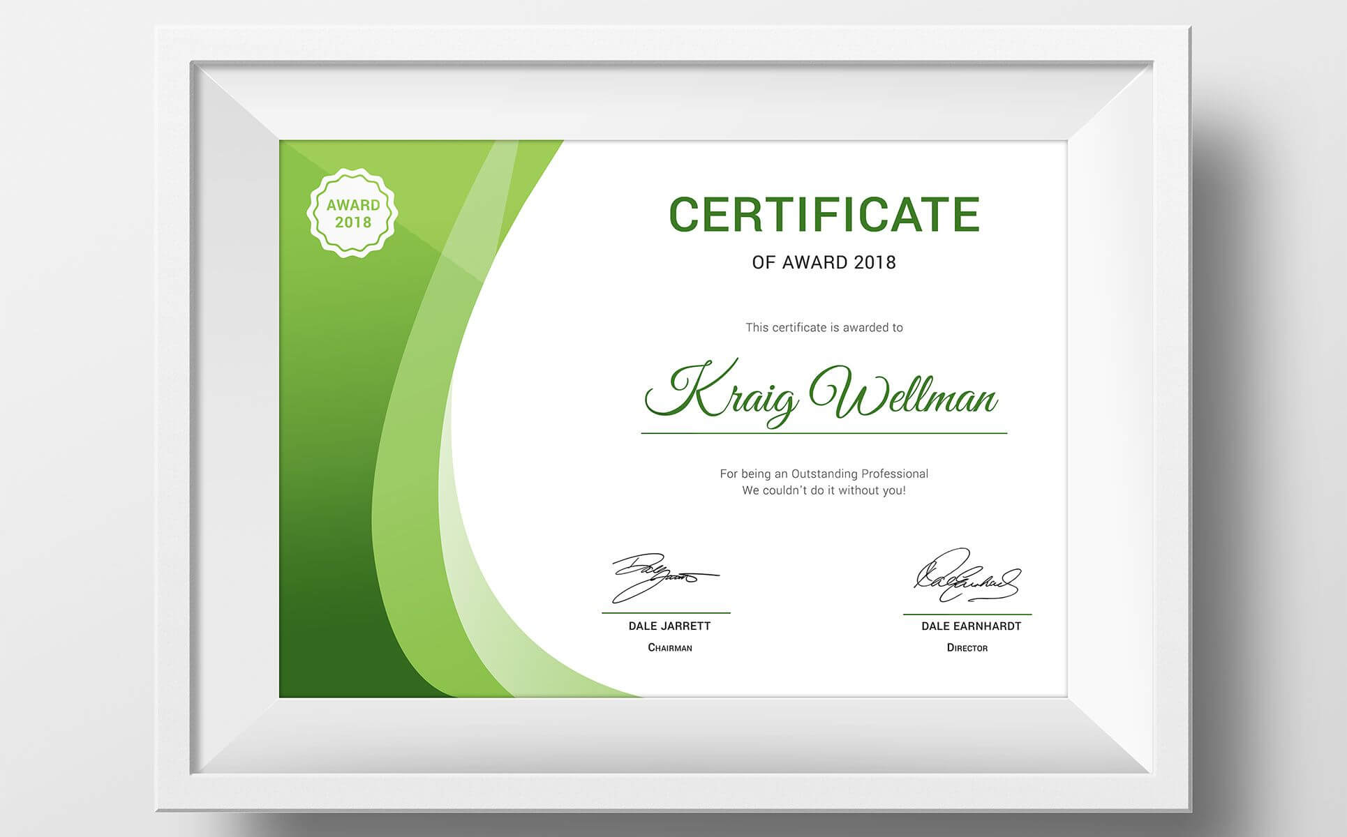 Award Certificate Template #73891 | Design Illustration Art in Small Certificate Template