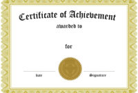 Award Certificate Template Certificate Templates Best Free inside Free Certificate Of Excellence Template