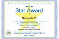 Award Certificate Template Free Fresh Star Awards Burlington in Star Award Certificate Template