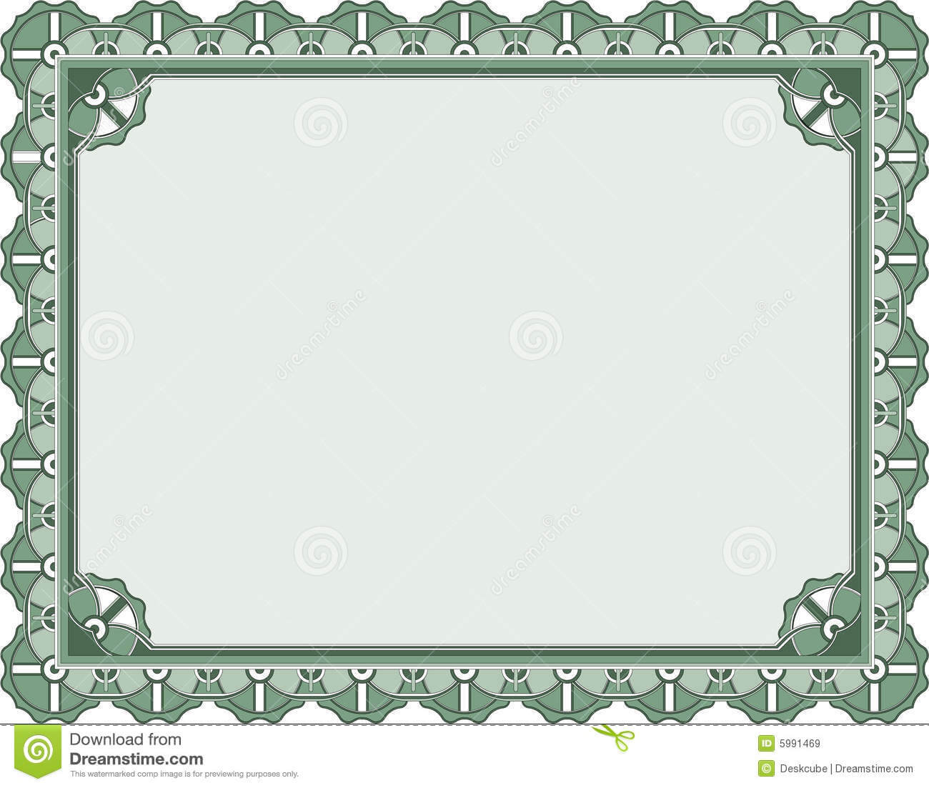 Award Certificate Template Stock Vector. Illustration Of With Award Certificate Border Template