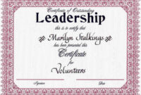 Award Certificates | Leadership Award Certificates | Cookie Intended For Leadership Award Certificate Template