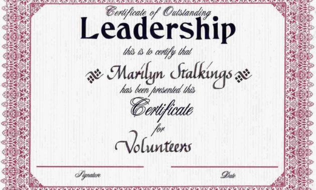 Award Certificates   Leadership Award Certificates   Cookie intended for Leadership Award Certificate Template